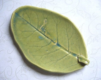 A New Beginning Pottery Leaf Spoon Rest