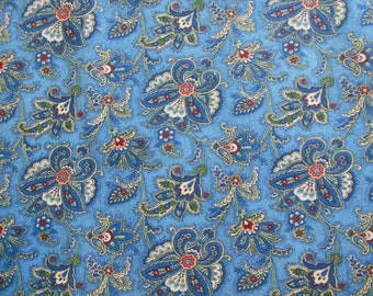 Fat Quarter - Blue Paisley