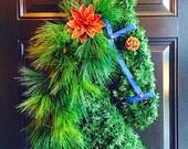 FREE SHIPPING! Large Horse Wreaths, Horses, Door Wreaths, Front Door Wreaths, Horse Head Wreaths, Christmas Wreath, Winter Wreath