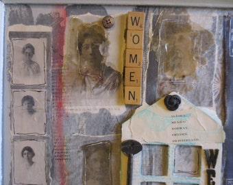 Strong Inspirational Women Mixed Media Collage