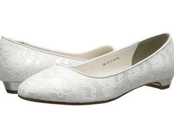 Wedding Shoes - Flat Lace Shoes - PBT 0.5 - 250 Colors, Pink 2 Blue