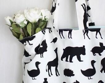 Cotton Linen Fabric Cloth -DIY Cloth Art Manual Cloth-Walking Animals 55x19 Inches