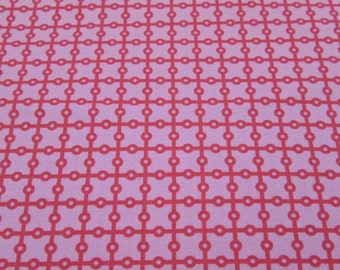 Dottie Grid Fabric in Pink, Michael Miller DC4032 By the Yard