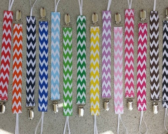 chevron pacifier clips - all the color choices