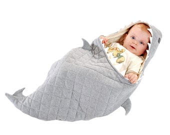 Organic Fair Trade Baby Shark Wrap Bed