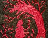 Wolf,Red Ridinghood,Patch,Wall Art