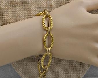 Vintage Brass Chain Bracelet