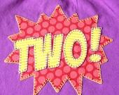 Superhero POW Birthday Shirt