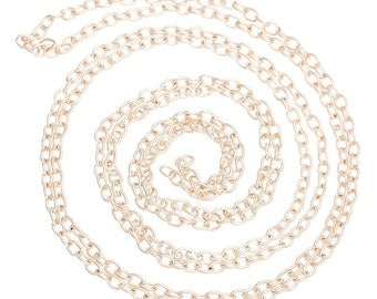 32Ft Chain Rose Gold Plated Cable 3.5mm x 3mm - FD38