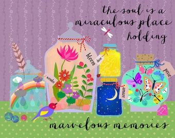 NEW!!!-The soul is a miraculous place-Art Print