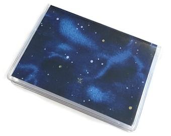 Card Case Mini Wallet Night Sky