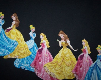 """Disney Princess Iron on Applique,  Set of 7 Cinderella, Sleeping Beauty and Belle 5-6"""" Tall, Birthday Party, Easy Craft"""