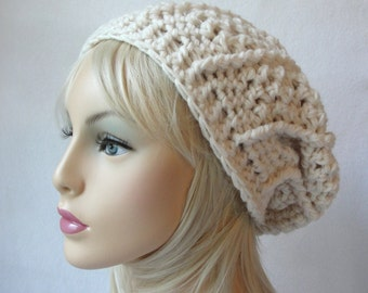 CROCHET PATTERN slouchy hat crochet beret pattern First Avenue Slouch Hat