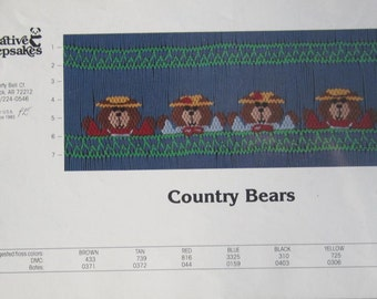 Smocking Plate - Country Bears by Creative Keepsakes (book 3)