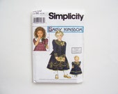 """Child's Dress and Doll Dress Pattern Simplicity 8269: Daisy Kingdom Girl's and 18"""" Doll's Dress - Size AA 3,4,5,6 or Size BB 5, 6, 7, 8"""