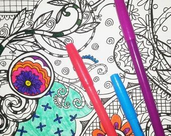 KPM Doodles Coloring page Secret Garden 1