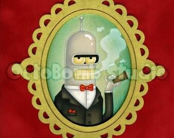 Futurama: Fancy Bender Print