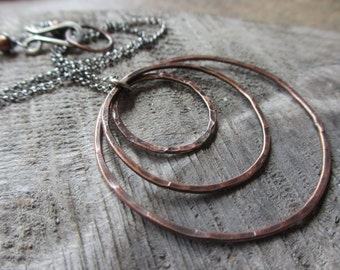 Ripple - rustic copper necklace