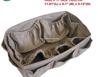 Diaper Bag insert purse organizer / LV Neverfull GM / Faux Coffee 30x17 cm
