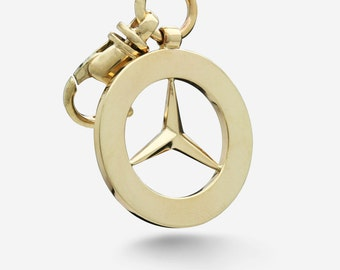 Gold Mercedes Benz Keychain
