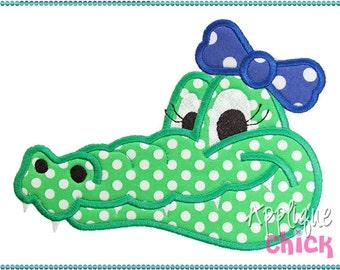 Gator Girl Applique Design