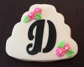 Monogram Wedding Cookies, Decorated Cookie Favors