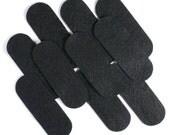 "3 1/2"" Black NON Adhesive Felt Oblongs 10 Pack"