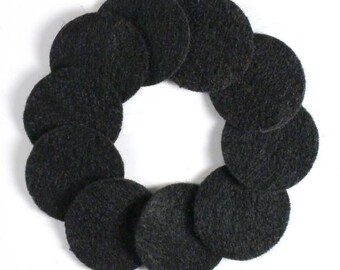 "1 1/4"" Black NON Adhesive Felt Circles 10 Pack"