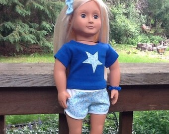 18 Inch Doll Clothes Sport Shorts and Appliqued T Shirt