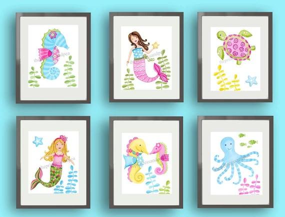 Mermaid Bathroom Decor Little Mermaid Bathroom Decor More