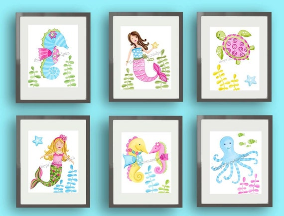Mermaid Bathroom Decor And Accessories: Mermaid Art Mermaid Bathroom Art Mermaid Bedding Art Print