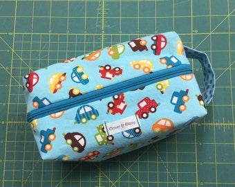 Blue Ditty Bag with Little Cars