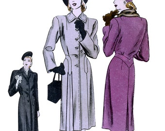 Vogue 5288 Vintage 40s Misses' Coat Sewing Pattern - Unused - Size 12 - Bust 30