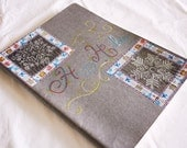 OOAK A4 Moleskine Blank Notebook - Custom Cover - Happy Holiday