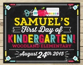 First Day of School Chalkboard Sign Printable - 1st Day of School Sign - Back to School Chalkboard Sign - Photo Props - First Day Chalkboard