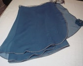 "14"" Adult Dark Turquoise Chiffon Ballet Wrap Skirt"
