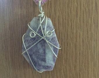 "18"" Purple Stone Necklace"