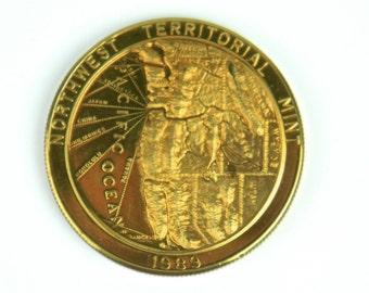 NORTHWEST TERRITORIAL MINT Polished Bronze Commemorative Medallion, 1989