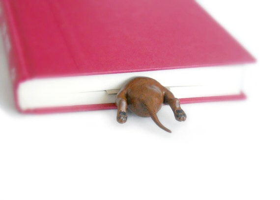Dachshund in the Book, Dachshund Bookmark, Valentines Day Gift, Birthday Gift, Stocking Stuffer, Gifts for Her
