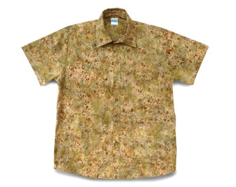 Mens Shirt Cotton Batik, Gift Shirt Batik, Mens Casual Shirt, Mens Batik Shirt, Boyfriend Shirt Gift