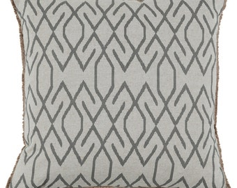 Ikat pattern in steel pillow covers, you select the size