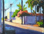 Alley, North Park. San Diego Landscape Painting