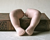 SaLe - Porcelain Bisque Baby Doll Legs for Doll Making and Repair