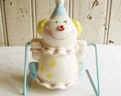 Vintage Nursery Clown Bank - Swinging Clown Bank on a Metal Stand - Mid-Century 1950s or 1960s - Made in Japan