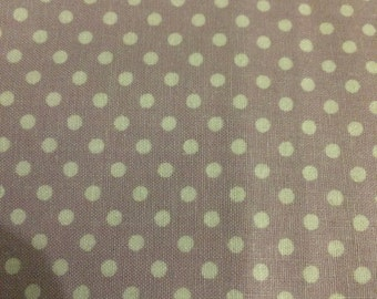 Polka Dots - Lavender and White - 1 yard Fabric