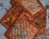Quilted Coaster Set - Autumn Batiks