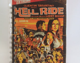 DVD recycled sketchbook notebook or journal - Hell Ride
