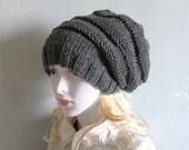 Slouchy Beanie, Black Slouchy Beanie, Slouchy Knit Hat Women Winter Hat Women Hats Cable Knit Hat Hand Knit Hat Women Knit Hat Dreadlock Hat