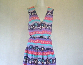 Island Life Novelty Print 2-Piece Summer Dress