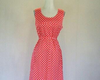 Tomato Polka Dot Fun Summer Dress
